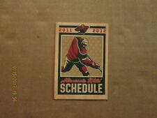 NHL MInnesota Wild Vintage Circa 2011-2012 Logo Hockey Pocket Schedule