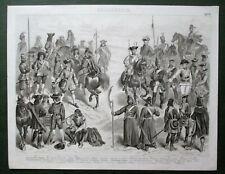 FRANZÖSISCHE+PREUSSISCHE+RUSSISCHE TRUPPEN KRIEG WAFFEN UNIFORM MILITÄR 29 Abb.
