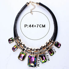 Acrylic Alloy Bib Costume Necklaces & Pendants