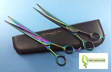 "Pet Dog Grooming Scissors Shears 10"" Professional Japanese Stainless STR & CVD"