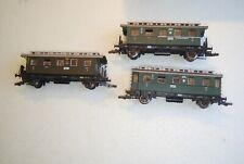 3 x Fleischmann H0 5065 67 69 Personenwagen DRG Ansbach, Figuren, bespielt, OVP