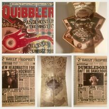 LOT 5 HARRY POTTER HANDMADE QUIBBLER,MARAUDERS MAP,DAILY PROPHETS,QUIDDITCH MAP