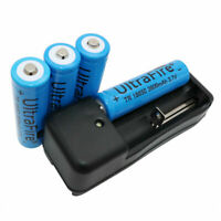 4X 18650 Battery 3.7V 3800mAh Li-ion Rechargeable with 4.2V US/EU/AU/UK Charger