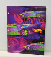 Vintage '97 Hot Wheels Mead portfolio Folder Rainbow Colors 3 hole punched