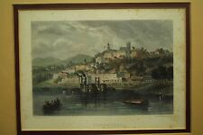 rare old Antique Print Engraving VICKSBURG Mississippi river Ch Chardon Paris