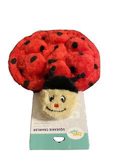 ZippyPaws Squeakie Crawler- Betsey The Ladybug-Squeaky Dog Toy