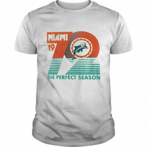 Miami Dolphins the perfect season shirt Football champs Vintage Men Gift Tee New