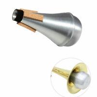Lightweight Aluminum Practice Trumpet Mute Straight Silencer for Jazz Horn Music