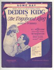 Vagabond King 1930 Some Day JEANETTE MacDONALD Movie Vintage Sheet Music Q01