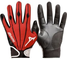 1 Pair Mizuno 330286 Vintage Pro Small Red Adult Batting Gloves New In Wrapper!