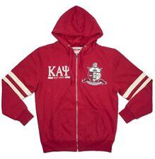 Kappa Alpha Psi Fraternity Mens New Zip-Up Hoodie Crimson Red