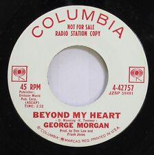 Country Promo 45 George Morgan - Beyond My Heart / Where Is My Love On Columbia