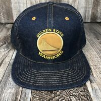 Golden State Warriors Jean Hat Cap NBA Mitchell & Ness 7 5/8 Fitted Basketball