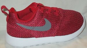 BOY'S NIKE ROSHE ONE (TDV) GYM RED /COOL GREY-ANTHRACITE TODDLER'S SHOES SIZE 7C