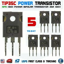 5pcs TIP35C TIP35 NPN High Power Transistor 25A 100V bipolar TO-247 USA