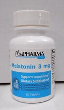 PlusPharma Melatonin 3mg 60ct  Expiration Date 10-2020-