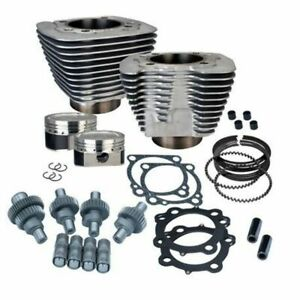 S&S SS Cycle Silver Big Bore Hooligan Kit 1200cc Harley Sportster 00-2020 XL 883