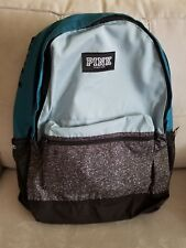 Victorias Secret PINK Campus Backpack Blue Teal Marl Gray 2018 NIP Sold Out