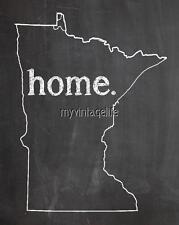 "MINNESOTA HOME STATE PRIDE 2"" x 3"" Fridge MAGNET CHALKBOARD CHALK COUNTRY"