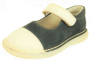 DE OSU/FARO - Toddler Girls Navy Blue & Cream Mary Janes - European 24 Size 7