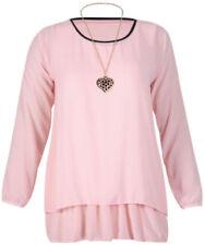 Camisas y tops de mujer de manga larga blusa de color principal rosa
