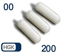 Leerkapseln 200 Vegan HGK Weiss Gr.00 leere Kapseln (Lieferort: Schweiz)