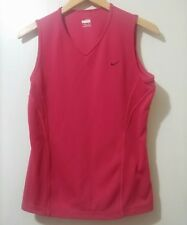 Nike Women's Top Size M (8-10) Rust Sleeveless Fit Dry Stretch Pullover