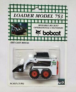 BOBCAT Skid Steer Loader Model 753 1/50 Scale By Melroe Ingersoll Die-Cast Metal