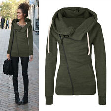 Women Zipper Hooded Slim Fit Sweater Jacket Coat Sweatshirt Winter Warm Coat USA