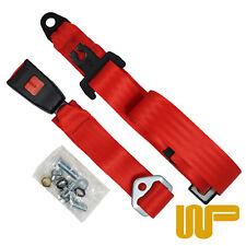 Classic Mini Rear Static Seat Belt In Red 200RED