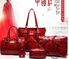 Women Shoulder Bags Chinese Style Big Tote Femininas Bolsas Handbags 6 Pcs/set