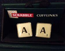 "Scrabble Mens Cufflinks Letter ""A"" Bn Boxed"