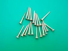 """20 TRUNK NAILS 2 SIZES 1"""" AND 1 1/2"""" BRASS PLATED CAMEL BACK TRUNKS"""