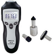 Amecal AT-8 alta exactitud de contacto + sin contacto tacómetro