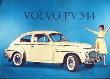 1959 1960 Volvo PV544 PV 544 Original Car 1-page Sales Brochure Card
