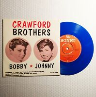 """CRAWFORD BROTHERS """"Bobby & Johnny"""" 45/PS SONET 7"""" Sweden (1963) RARE Teen"""