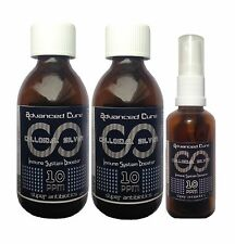 (2 X 200ml)+(50ml Spray) Pure High Voltage Colloidal Silver 10ppm (BEST REVIEWS)