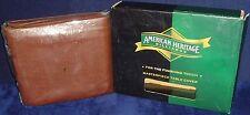 "New n Box•American Heritage Billards•7' Brown Naugahyde•Pool Table Cover•51""x91"""