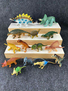 Lot of 13 Vintage 1980's, 1990's Plastic Dinosaurs Unbranded Most marked China