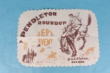 VINTAGE PENDLETON ROUNDUP OREGON RODEO PAPER RESTAURANT PLACEMAT