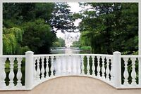 Huge 3D Balcony Enchanted Garden Wall Stickers Mural Wallpaper 173