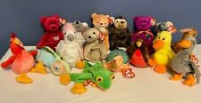 16 VTG RETIRED BEANIE BABIES ASSORTMENT OF UNUSUAL ANIMALS. NEVER USED! NEW