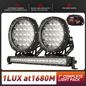 7inch Osram SPOT LED Driving Lights & Light Bar 22inch New Design Round Slim Ute