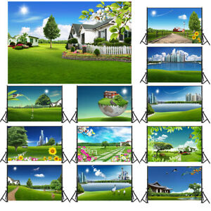 City Green Peace Life Background Cloth Photography Backdrop Props