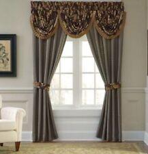 CROSCILL SAVANNAH Curtain Pole Top Pair & Tiebacks 82 X 84 NEW