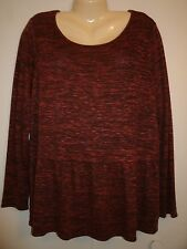 KNIT TOP SWEATER SIZE XL ORANGE BLACK - NEW WITH TAG!
