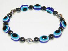 3414-traditional lucky mauvais oeil bracelet avec hématite gemme