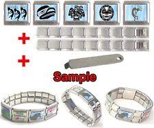 Native American Photo Mega Stainless Steel Italian Charms Bracelet + Tool HG228