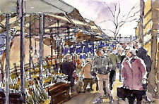 2 X Doncaster Market POSTCARDS Steve Greaves Painting Art Yorkshire Cards
