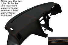 Puntadas de hilo naranja encaja Toyota Mr2 Mk2 89-2000 Dash Dashboard Leather piel cubierta sólo